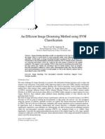 An Efficient Image Denoising Method using SVM Classification