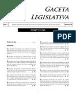Gaceta Legislativa Veracruz