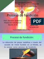 Proceso de Fundición