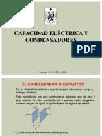 Parte 5 Capacidad Eléctrica y Condensadores
