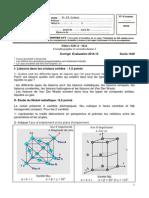 Cristallographie Et Cristallochimie ICorrige2015