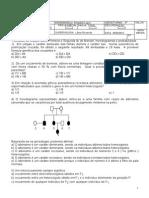 Exercícios de Genética- 1 e 2 Lei Mendel;Prob. e Heredogramas-2012 (1)
