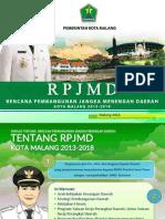 Presentasi RPJMD Kota Malang 2013-2018 Walikota