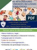 Educación Inclusiva y Personalización Educativa