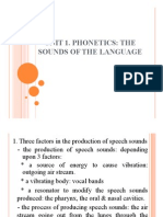 UNIT 1 - Phonetics