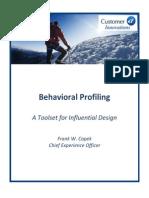 CI Behavioral Profiling Overview 2013 Rfs