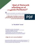 Por Qué El Network Marketing Es El Negocio Perfecto