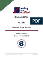 GLI-31 Electronic Raffle Systems v1.1