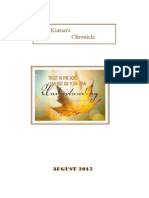 St Kiaran's Chronicle August 2015