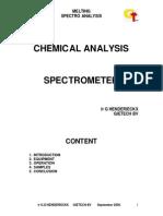Spectroanalysis of Metals