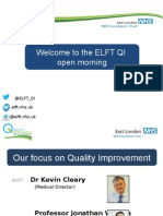 ELFT QI Open Day -  August 2015