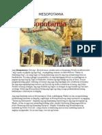 Mesopotamia kabihasnan at iba pa