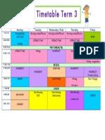 timetable term 3 1l