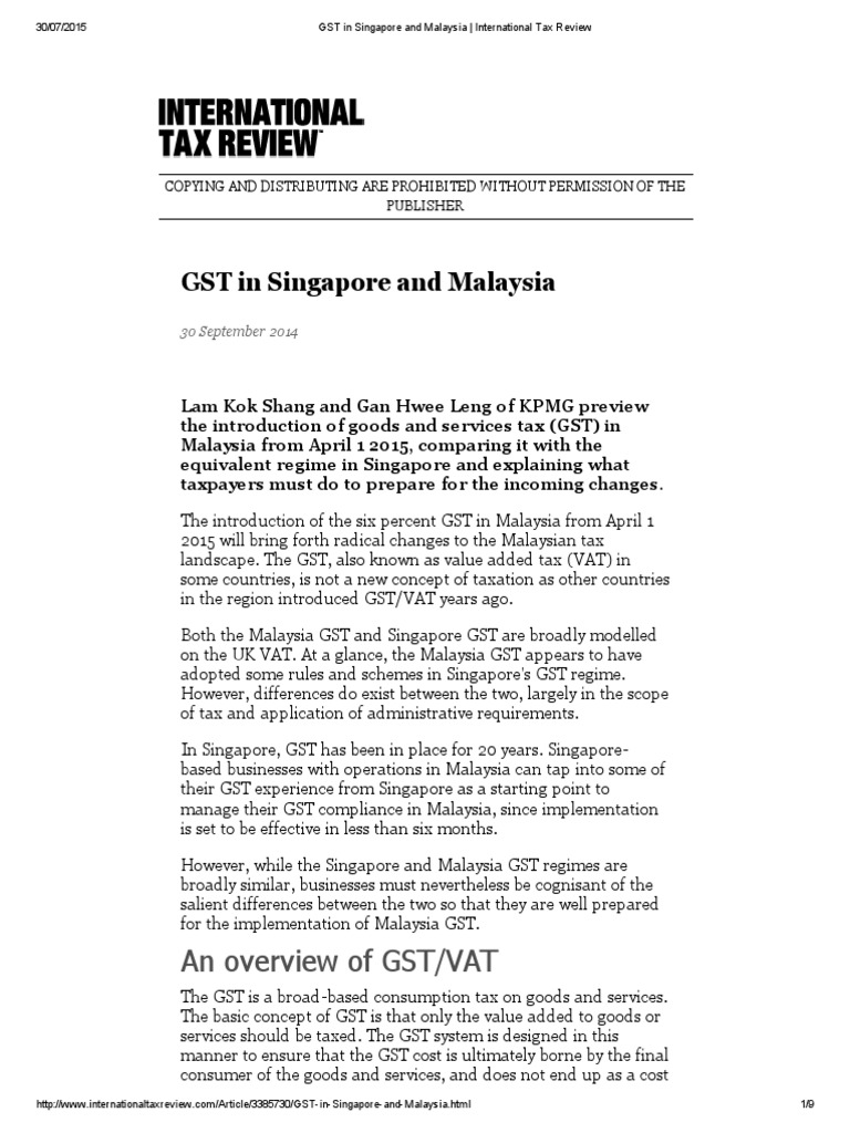 history of gst in malaysia Article 2 an overview of gst malaysia brief history of goods & services tax (gst) malaysia in recent months there has been increasing talk in the market that the long proposed goods and services tax (gst) is likely be announced in the coming budget 2014 most economists believe that gst in malaysia .