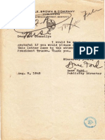Anne Ford's Atomic Protest Letter
