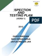 JKR Inspection and Testing Plan Version 1