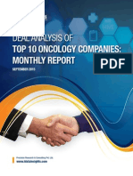 Deal Analysis of Top 10 Oncology Companies 2015