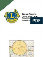 Azusa Canyon City Lions Club