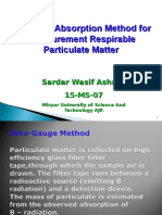 Beta Ray Absorption Method for Measurement Respirable Particulate Matter