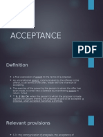 Lecture 5 - Acceptance, Communication