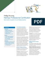 NetApp Professional Certification