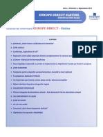 Newsletter Europedirect-Slatina Anul 1 Nr 9