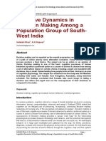 Dynamics in Decision Making Among a Population Group of South-West India