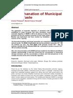 Biomethanation of Municipal Solid Waste