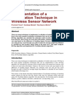 Implementation of a Localization Technique in Wireless Sensor Network