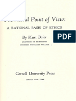 Baier, The Moral Point of View (1958) (Excerpt on Ethical Egoism)