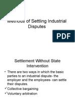 Methods of Settling Industrial Disputes