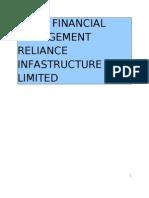 Reliance Infrastructure Finacial Analysis
