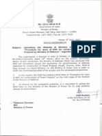 Procedure Forissue NOC of PP by MoD Apr2014