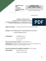 ordre de commande n°01 FOURNITURES DE BUREAU