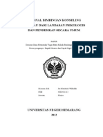 RASIONAL BIMBINGAN KONSELING Dr Landsan Psikologis Dan Pend Scr Umu