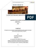 Project on -A Study of Increasing Trend of Gold Loan by Manthan Jogani