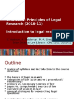 01 - Introduction to Legal Research