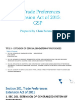 US Trade Preferences Extension Act of 2015