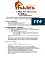 physical education department syllabus
