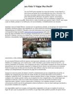 Ciertos Consejos Para Vivir Y Viajar Por Perú