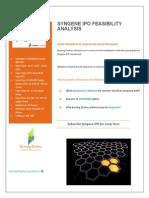 Syngene IPO Feasibility Analysis