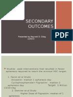 secondary outcomes