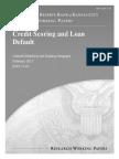 Credit Scoring and Loan Default