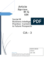 article review - Social Media Analytics as a Business Intelligence Practice