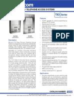 Mircom TX3-120U-A Data Sheet