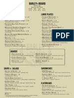 Barley and Board opening menu