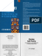 Persian Sufi Poetry an Introduction to the Mystical Use of Classical Poems