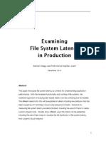 Examining File System Latency i nproduction