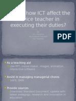 Explain How ICT Affect the Novice Teacher In