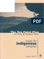 The Ten Point Plan on Wik & Native Title